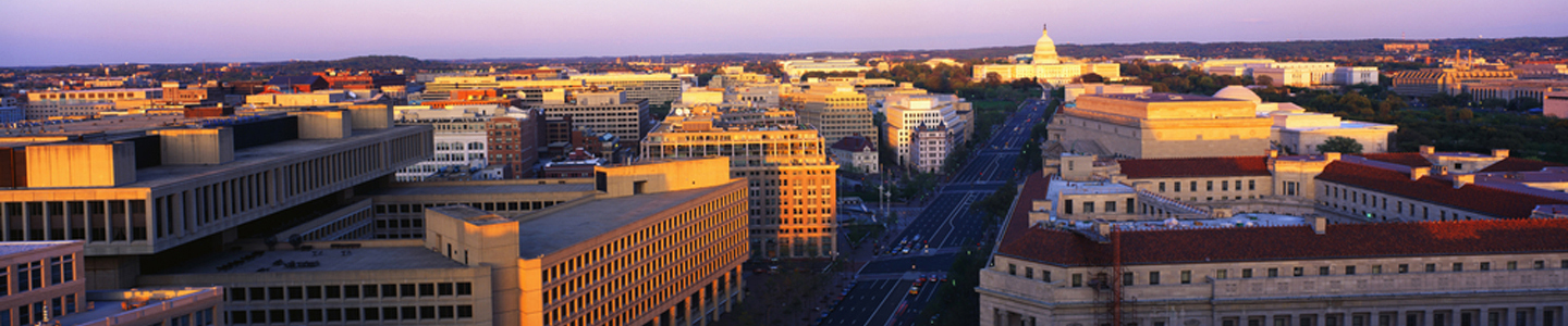 A panoramic view of Washington D.C.